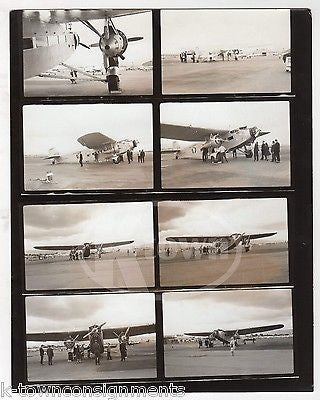 AMERICAN AIRWAYS FORD TRI-MOTOR US AIR MAIL CLIPPER AIRPLANE PHOTO CONTACT SHEET - K-townConsignments