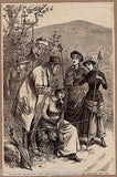 TRAVELING PHRENOLOGY YOUNG GIRLS ANTIQUE QUACK MEDICINE GRAPHIC ENGRAVING PRINT - K-townConsignments