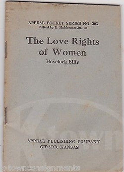 THE LOVE RIGHTS OF WOMEN APPEAL POCKET SERIES ANTIQUE FEMINISM BOOK 1918 - K-townConsignments