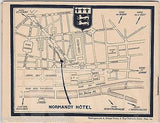 NORMANDY HOTEL PARIS FRANCE VINTAGE 1930s GRAPHIC ADVERTISING SOUVENIR BOOKLET - K-townConsignments