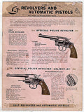 COLT FIREARMS REVOLVERS TARGET PISTOL VINTAGE PRICE LIST SALES CATALOG 1941 - K-townConsignments