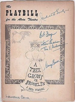 A TREE GROWS IN BROOKLYN ROBERT FRYER CAST AUTOGRAPH SIGNED THEATRE PLAYBILL - K-townConsignments