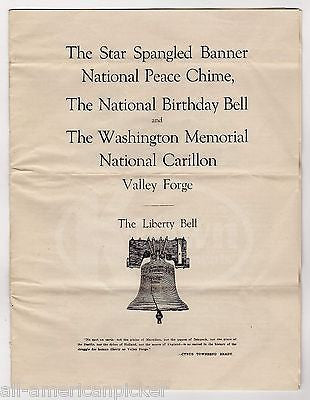 WASHINGTON MEMORIAL CHAPEL LIBERTY BELL FUNDRAISING PROGRAM VALLEY FORGE PA 1927 - K-townConsignments