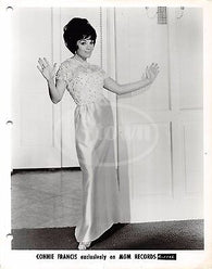 CONNIE FRANCIS POP MUSIC SINGER DANCING VINTAGE MGM RECORDS STUDIO PROMO PHOTO - K-townConsignments