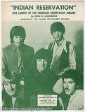 THE RAIDERS LAMENT OF THE CHEROKEE RESERVATION INDIAN SONG VINTAGE SHEET MUSIC - K-townConsignments