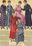 WOMENS CLOTHING KIMONO BATHROBES & DAY DRESSES ANTIQUE GRAPHIC ADVERTISING PRINT - K-townConsignments