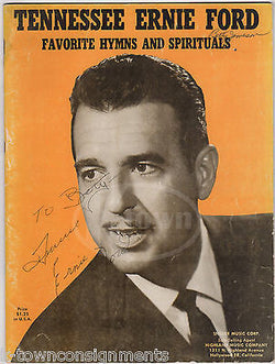 TENNESSEE ERNIE 16 TONS COUNTRY GOSPEL MUSIC AUTOGRAPH SIGNED SHEET MUSIC BOOK - K-townConsignments