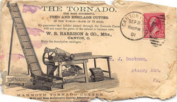 TORNADO FEED CUTTER FARM TOOLS CANTON OHIO ANTIQUE GRAPHIC ADVERTISING COVER - K-townConsignments