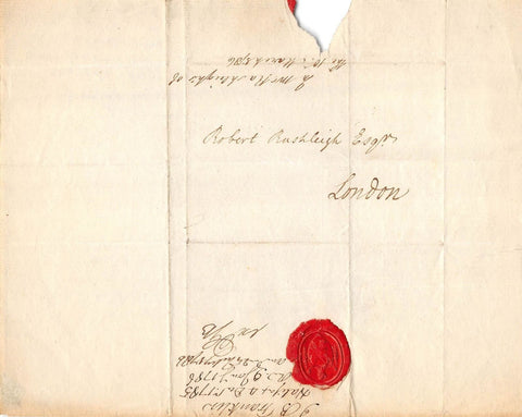 J. B. FRANKLIN BRITISH AGENT OF THE CROWN ANTIQUE SIGNED & SEALED DOCUMENT 1786 - K-townConsignments
