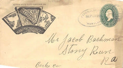 KEYSTONE MANUFACTURING STERLINGILL ANTIQUE GRAPHIC ADVERTISING MAIL COVER 1888 - K-townConsignments