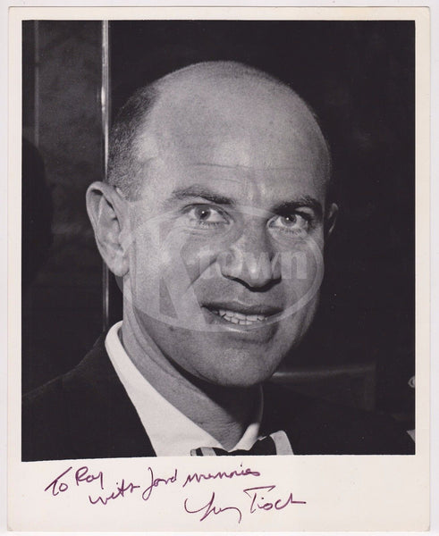 LAWRENCE TISCH NBC NETWORK CEO VINTAGE AUTOGRAPH SIGNED RAY FISHER STUDIO PHOTO - K-townConsignments
