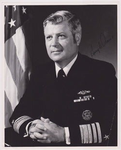 ADMIRAL HARRY TRAIN US NAVY ATLANTIC FLEET AUTOGRAPH SIGNED 8X10 MILITARY PHOTO - K-townConsignments