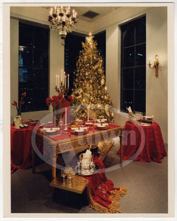 CHRISTIAN DIOR ADVERTISING VINTAGE STORE CHRISTMAS TREE DINING DISPLAY PHOTO - K-townConsignments