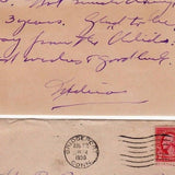 DR. ALFRED KORNBLUT CT WEST VIRGINIA DOCTOR AUTOGRAPH SIGNED NAVY LETTER 1930 - K-townConsignments