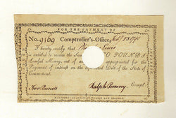RALPH POMEROY REVOLUTIONARY WAR PATRIOT CT COMPTROLLER AUTOGRAPH SIGNED DOC 1790 - K-townConsignments