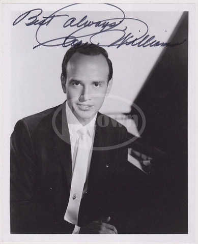 ROGER WILLIAMS PIANIST MUSICIAN VINTAGE AUTOGRAPH SIGNED STUDIO PROMO PHOTO - K-townConsignments