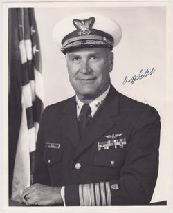 ADMIRAL OWEN SILVER  US COAST GUARD LEADER ORIGINAL AUTOGRAPH SIGNED PHOTOGRAPH - K-townConsignments