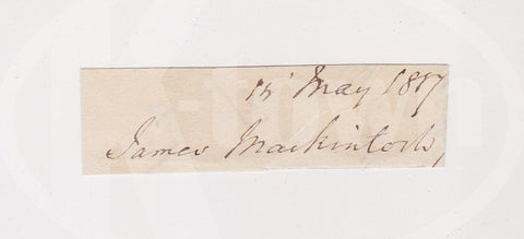 JAMES MACKINTOSH WHIG POLITICIAN PHILOSOPHER ANTIQUE AUTOGRAPH SIGNATURE - K-townConsignments
