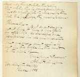 JOHN WINGFIELD EPISCOPAL CHURCH CALIFORNIA ANTIQUE AUTOGRAPH SIGNED LETTER 1851 - K-townConsignments