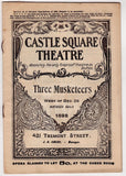 THREE MUSKETEERS CASTLE SQUARE THEATRE PLAY ANTIQUE PLAYBILL W/ ADVERTISING 1896 - K-townConsignments