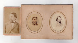 W. C. FLAGG CIVIL WAR IRS LINCOLN POLITICIAN AUTOGRAPH SIGNED CDV PHOTOS LOT - K-townConsignments