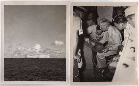 NUCLEAR ATOMIC BOMB BAKER WWII PHOTOGRAPERS ID CARD BIKINI ATOLL MILITARY PHOTOS - K-townConsignments