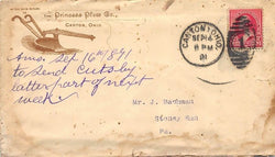 PRINCESS PLOW COMPANY CANTON OHIO FARMING ANTIQUE ADVERTISING POSTED MAIL COVER - K-townConsignments