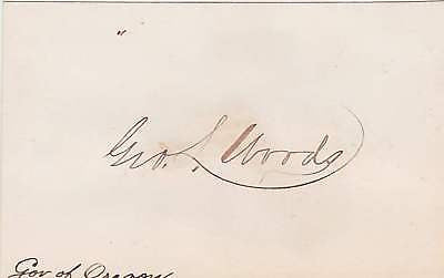 GEORGE LEMUEL WOODS OR UT GOVERNOR AUTOGRAPH SIGNATURE - K-townConsignments