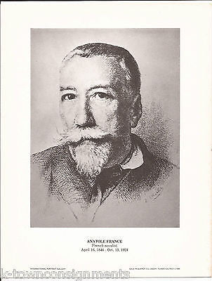 Anatole France French Novelist Vintage Portrait Gallery Poster Photo Print - K-townConsignments