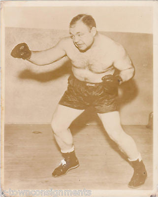 TONY GALENTO 1930s BOXER VINTAGE BOXING POSE PHOTO - K-townConsignments