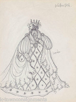 WINTERS TALE THEATRE PLAY VINTAGE AUTOGRAPH SIGNED HAL GEORGE COSTUME DESIGNS - K-townConsignments