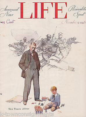 WILL ROGERS WWI ANNIVERSARY COVER ART GRAPHIC ILLUSTRATED LIFE MAGAZINE 1928 - K-townConsignments