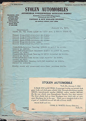 NEW ENGLAND POLICE STOLEN VEHICLES CRIME BULLETINS SCRAPBOOK PAGES - K-townConsignments