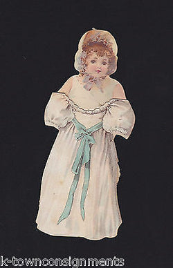 LULU BROWN ALA HAWELL 1800s STAGE ACTRESS VICTORIA DIECUT PAPER DOLL ADVERTISING - K-townConsignments