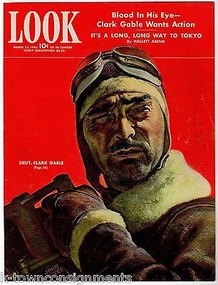 LIEUT. CLARK GABLE LONG WAY TO TOKYO BOMBER PILOT ACTOR VINTAGE LOOK COVER PRINT - K-townConsignments