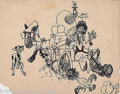 BINGHAMPTON NY BROOME SWEEPINGS SUNDAY CARTOONS ORIGINAL INK SKETCH BY J. BRYAN - K-townConsignments