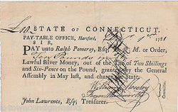 1780s OLIVER WOLCOTT, Jr SECRETARY OF TREASURY AUTOGRAPH SIGNED ANTIQUE DOCUMENT - K-townConsignments