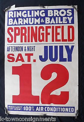 RINGLING BROS BARNUM & BAILEY CIRCUS LARGE GRAPHIC ADVERTISING CIRCUS POSTER - K-townConsignments