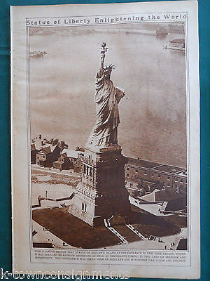 STATUE OF LIBERTY & NIAGARA FALLS NEW YORK VINTAGE 1920s PHOTO POSTER PRINTS - K-townConsignments