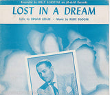 BILLY ECKSTINE LOST IN A DREAM VINTAGE MGM R&B SHEET MUSIC & LYRICS - K-townConsignments