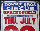 DOWNIE BROS. BIG 3 RING CIRCUS CHARLES SPARKS VINTAGE 1930s ADVERTISING POSTER - K-townConsignments