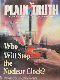 PLAIN TRUTH VINTAGE WORLD PEACE NUCLEAR WAR THREAT MAGAZINE 1984 - K-townConsignments