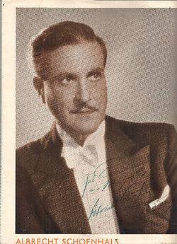 ALBRECHT SCHOENHALS JEWISH GERMAN MOVIE ACTOR FLED NAZIS AUTOGRAPH SIGNED PRINT - K-townConsignments
