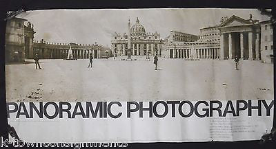 ST PETER'S SQUARE 1857 ORIGINAL VINTAGE GREY ART GALLERY PANORAMIC PHOTO POSTER - K-townConsignments