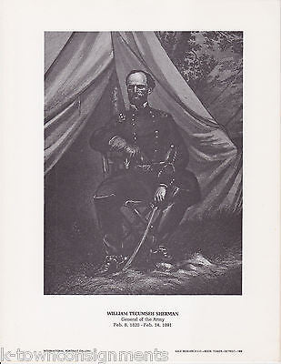 William Tecumseh Sherman General Vintage Portrait Gallery Artistic Poster Print - K-townConsignments