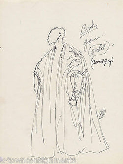 HAL GEORGE THEATRE COSTUME DESIGNER ORIGINAL AUTOGRAPH SIGNED STAGE SKETCHES - K-townConsignments