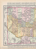 Utah State Antique 1898 Graphic Illustration Map Atlas Print - K-townConsignments