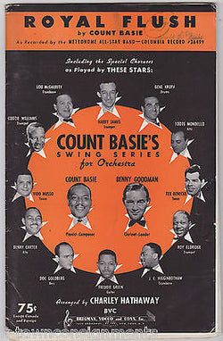 COUNT BASIE BENNY GOODMAN ROYAL FLUSH VINTAGE 1940s ORCHESTRA ARRANGEMENT MUSIC - K-townConsignments