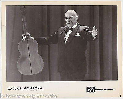 CARLOS MONTOYA GREAT FLAMENCO MUSICIAN GUITARIST VINTAGE STUDIO PROMO PHOTO - K-townConsignments