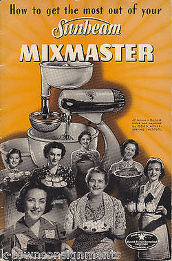 SUNBEAM MIXMASTER VINTAGE KITCHEN APPLIANCE GRAPHIC AD SALES CATALOGE - K-townConsignments